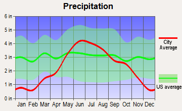 Baxter, Minnesota average precipitation