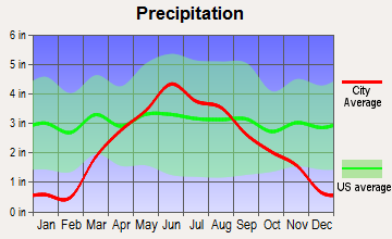 Butterfield, Minnesota average precipitation