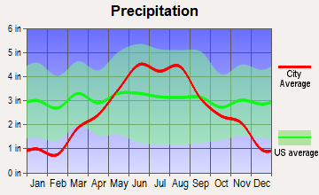 Circle Pines, Minnesota average precipitation