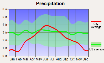 Cottonwood, Minnesota average precipitation