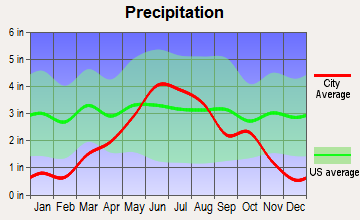 Cyrus, Minnesota average precipitation