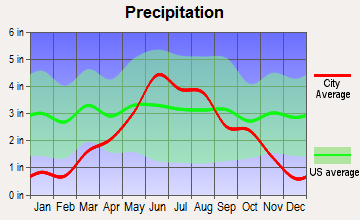 De Graff, Minnesota average precipitation