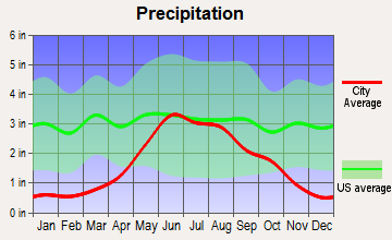 Fisher, Minnesota average precipitation