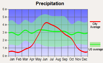 Gonvick, Minnesota average precipitation