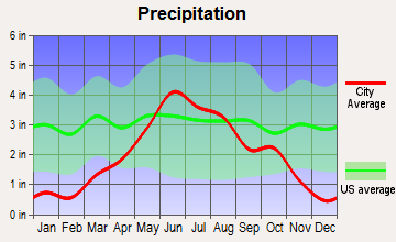 Kensington, Minnesota average precipitation