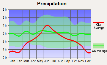 Porter, Minnesota average precipitation