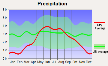 Rice, Minnesota average precipitation