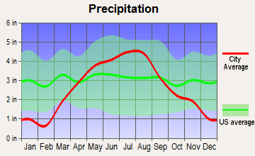 West Concord, Minnesota average precipitation