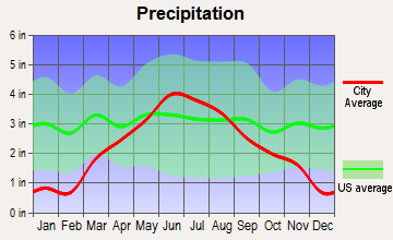 Wood Lake, Minnesota average precipitation