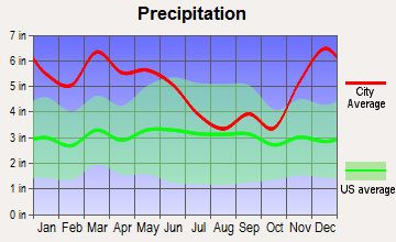 Pontotoc, Mississippi average precipitation