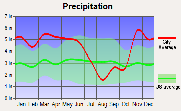 Mound Bayou, Mississippi average precipitation