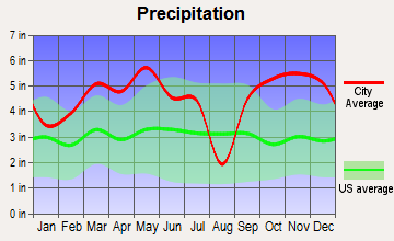 Horatio, Arkansas average precipitation