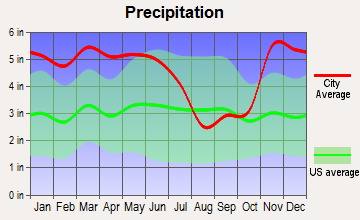 Lyon, Mississippi average precipitation