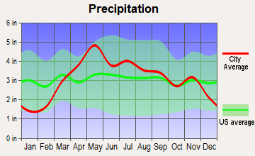 Paris, Missouri average precipitation