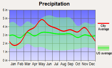 St. Thomas, Missouri average precipitation