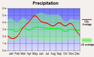 Tuscumbia, Missouri average precipitation