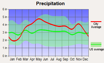 Vienna, Missouri average precipitation