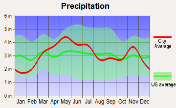 Warrenton, Missouri average precipitation