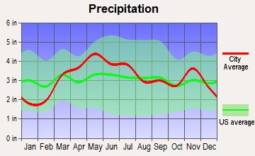 Wright City, Missouri average precipitation