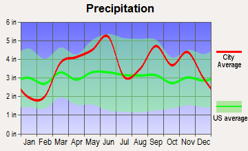 Pierce City, Missouri average precipitation