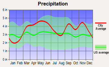 Mansfield, Missouri average precipitation