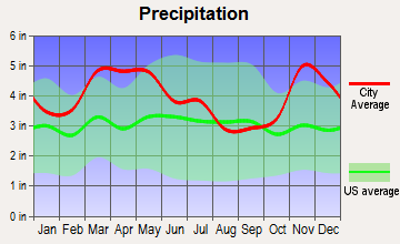 Dexter, Missouri average precipitation