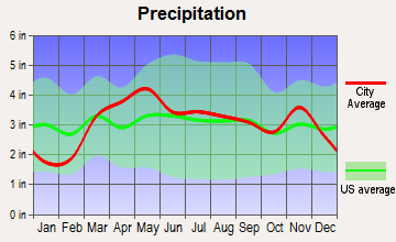 Clarksville, Missouri average precipitation