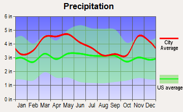 Bertrand, Missouri average precipitation