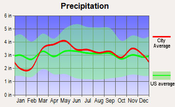 Elsberry, Missouri average precipitation
