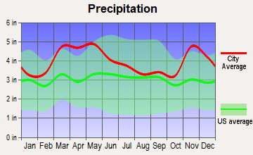 Gordonville, Missouri average precipitation