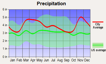 Greenville, Missouri average precipitation