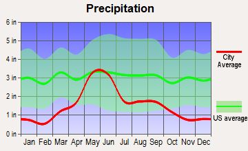 Highwood, Montana average precipitation