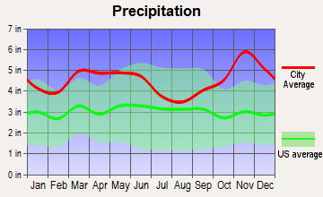 Perrytown, Arkansas average precipitation