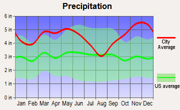 Rosston, Arkansas average precipitation