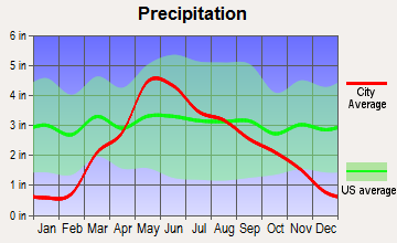 Leigh, Nebraska average precipitation
