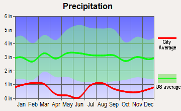 Searchlight, Nevada average precipitation