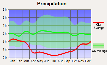Kingsbury, Nevada average precipitation