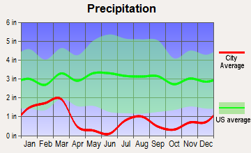 Blue Diamond, Nevada average precipitation
