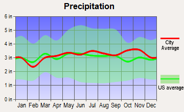 Chichester, New Hampshire average precipitation