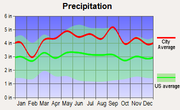 Clifton, New Jersey average precipitation