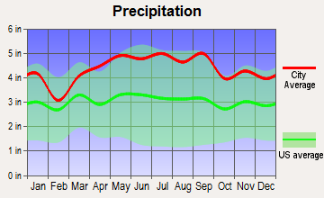 Hackettstown, New Jersey average precipitation