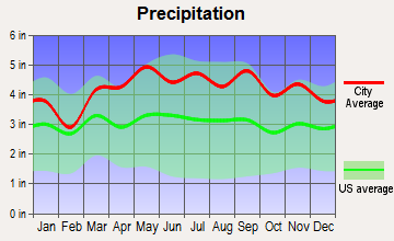 Ramsey, New Jersey average precipitation