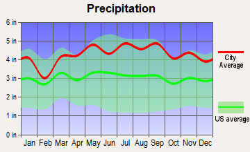 Springfield, New Jersey average precipitation
