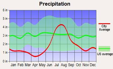 Mescalero, New Mexico average precipitation