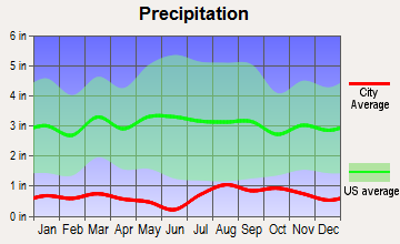 Kirtland, New Mexico average precipitation