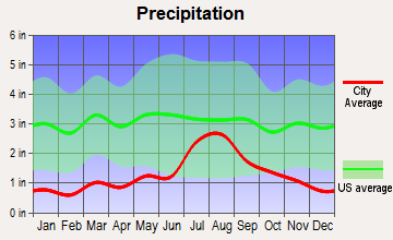 El Valle de Arroyo Seco, New Mexico average precipitation