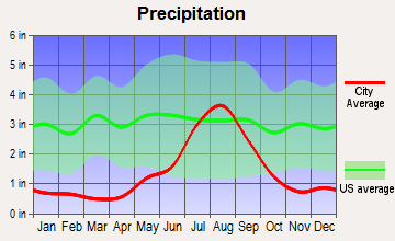 Capitan, New Mexico average precipitation