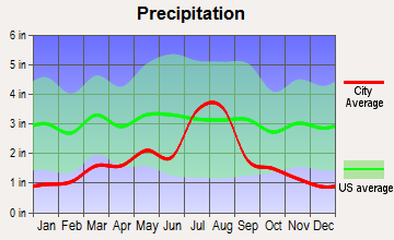 Angel Fire, New Mexico average precipitation
