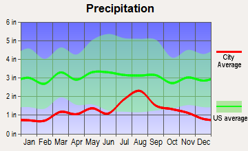 Arroyo Hondo, New Mexico average precipitation