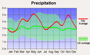 Bellefonte, Arkansas average precipitation